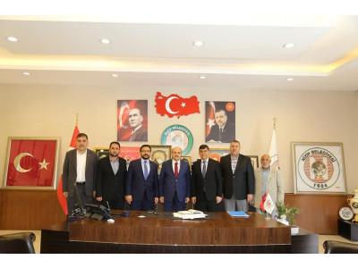 Başkan Sarı, Şehitkamil Belediye Başkanı Fadıloğlu'nu Misafir Etti.