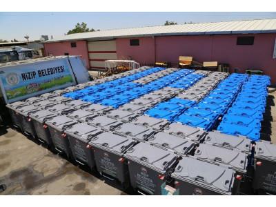 Temizlik İşleri Müdürlüğümüze Bağlı Ekiplerimiz Tarafından Çöp Konteynerleri Yenileniyor.