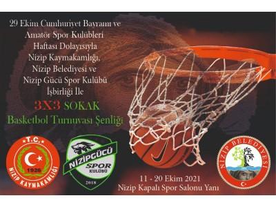 3x3 Sokak Basketbol Turnuvası Şenliği Devam Ediyor.